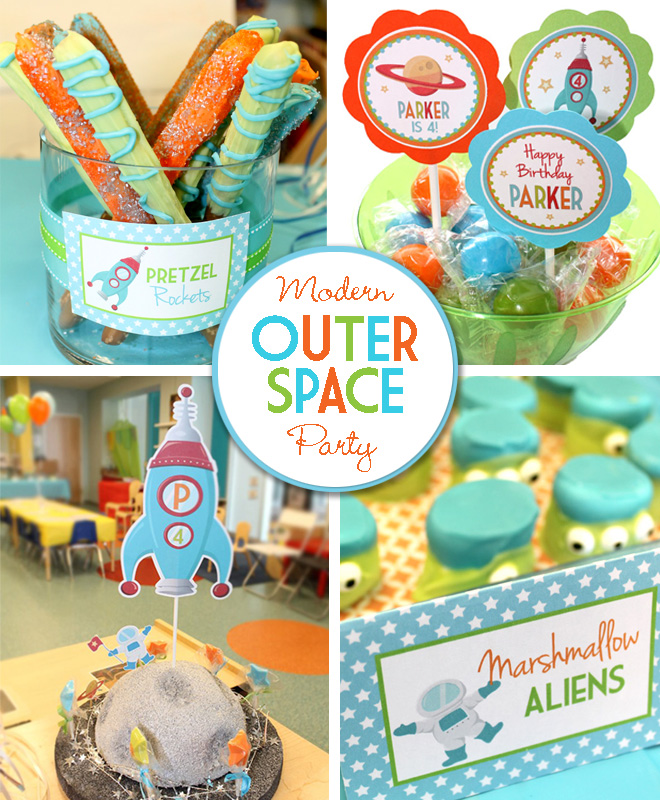Modern Outer Space Birthday Party - Celebration Lane