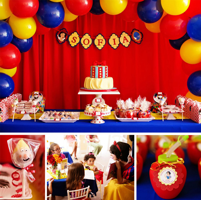 Southern Blue Celebrations Snow White Party Ideas