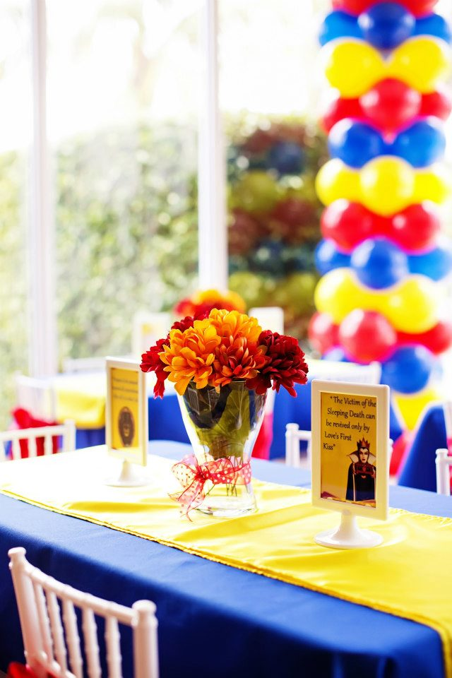 Snow White Birthday Party Celebration Lane