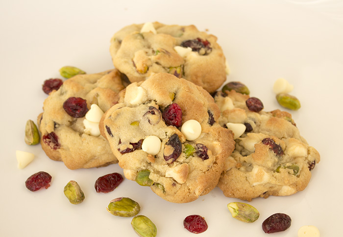 White Chocolate Cranberry Pistachio Cookies - Celebration Lane