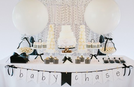 Black and White Baby Shower Ideas