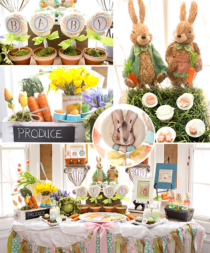 Peter rabbit baby shower celebration lane