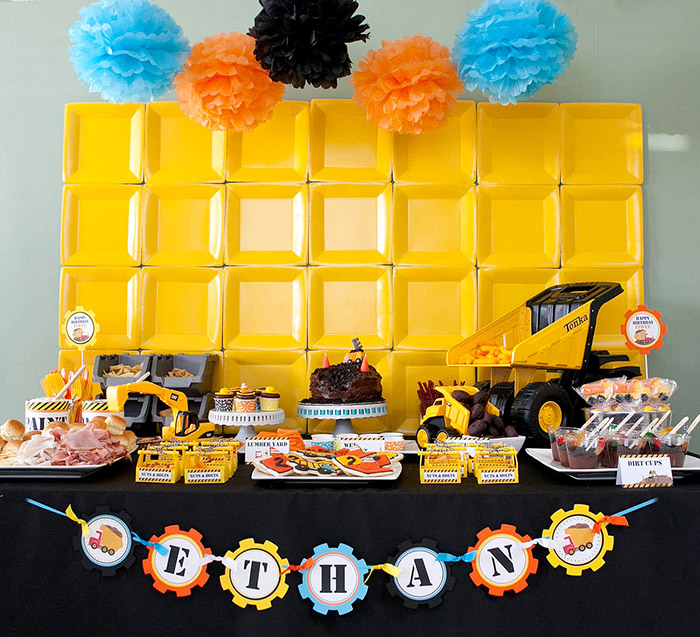 Ethan's Construction Birthday Party