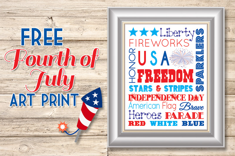 Free Fourth of July Subway Art Print | www.celebrationlane.com
